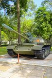 Behållare för vietnames T-54 på självständighetslotten Arkivbilder