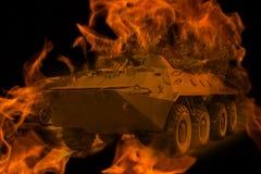 Behållare i branden Royaltyfria Foton