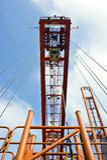 behållare som hissar riggen Fotografering för Bildbyråer