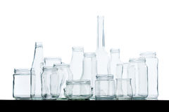 behållareexponeringsglasåteranvändning Royaltyfria Foton