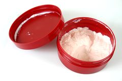 behållarefuktighetsbevarande hudkräm Arkivfoton