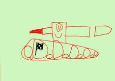 Behållarehastighetsracerbil Stock Illustrationer