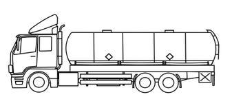 behållarelastbil Arkivbild