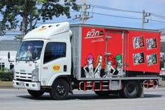 Behållarelastbil av thailändsk bevarad mat Royaltyfria Foton