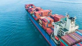 Behållarelastfartyg för flyg- sikt, sändande inte för affärsfrakter royaltyfri bild
