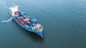 Behållarelastfartyg för flyg- sikt, sändande inte för affärsfrakter royaltyfri fotografi