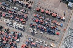 Behållarelastfartyg, importexport, logistisk tillförsel ch för affär Fotografering för Bildbyråer