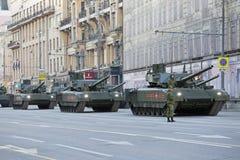 Behållaren för huvudsaklig strid för T-14 Armata Arkivbilder
