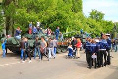Behållaren T-72 Arkivbild