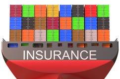 Behållareskepp, försäkringbegrepp Arkivbild