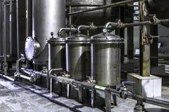 Behållareutrustning Farmaceutisk och kemisk bransch Tillverkning på växten Arkivbilder