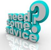 Behöv några ord för rådgivninghjälphjälp 3D Arkivbild