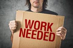 Behövt arbete arkivbilder