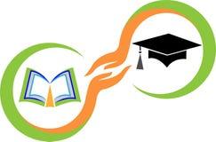 Behaal embleem een diploma Stock Foto