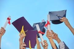 Behaalt stutents een diploma Stock Afbeeldingen