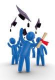 Behaalt thorwing hoed een diploma Stock Afbeeldingen