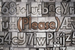 Behaga med rörlig typprinting Arkivfoto