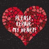 Behaga, reparera min hjärta Arkivbilder