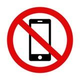 Behaga tystnad din mobiltelefon - det inget varnande tecknet 2 royaltyfri illustrationer