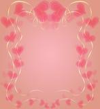 Behagfull ram med hjärtor till Valentine Day Arkivfoton