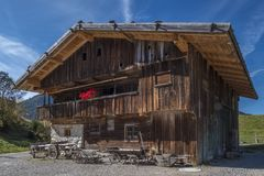 Farm and Winter Sports Museum, Schliersee, Bavaria. Beham Hof farm in the Markus Wasmeier Farm and Winter Sports Museum, Schliersee, Upper Bavaria, Bavaria Royalty Free Stock Images