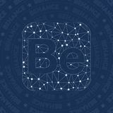 Behance network symbol. Actual constellation style symbol. Symmetrical network style. Modern design. Behance symbol for infographics or presentation Royalty Free Stock Image
