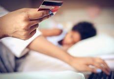 Behandel uw bankrekening van huis stock afbeeldingen