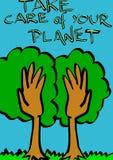 Behandel uw planeet Royalty-vrije Stock Afbeeldingen