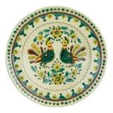 Behandeld met met de hand gemaakte glans ceramische plaat royalty-vrije stock fotografie