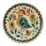 Behandeld met met de hand gemaakte glans ceramische plaat stock afbeeldingen