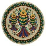 Behandeld met met de hand gemaakte glans ceramische plaat stock afbeelding