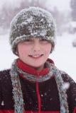 Behandeld met sneeuwvlokken Royalty-vrije Stock Afbeeldingen