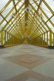 Behandelde voetgangersbrug Stock Foto