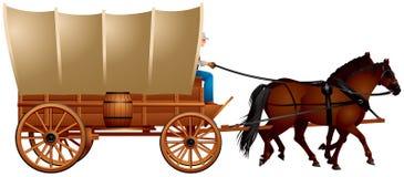 Behandelde Wagen royalty-vrije illustratie