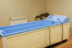 Behandelingen in het bad stock fotografie