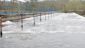 Behandelings van afvalwaterinstallatie stock video