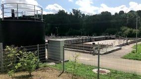 Behandelings van afvalwaterinstallatie stock footage