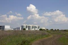 Behandelings van afvalwaterinstallaties stock foto
