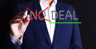 Behandeln Sie kein Abkommen stockbilder