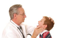 Behandeln Sie mit Patienten 8 Stockbild