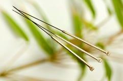 Behandla med akupunktur visaren Fotografering för Bildbyråer