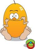 Behandla som ett barn äggvektorn Arkivbilder