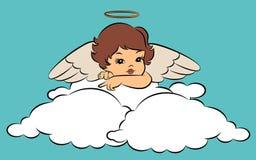 behandla som ett barn ängeln med vingar. Arkivfoton
