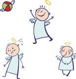 Behandla som ett barn ängeluppsättningen Arkivbild