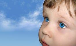 behandla som ett barn ögon royaltyfri fotografi