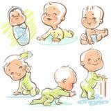 Behandla som ett barn stock illustrationer
