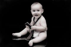 behandla som ett barn affärsmannen Royaltyfria Foton