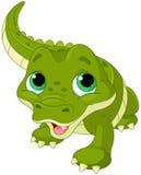 Behandla som ett barn alligatorn stock illustrationer