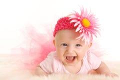 behandla som ett barn att le för ballerina Arkivbilder