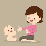 behandla som ett barn att leka för moder royaltyfri illustrationer